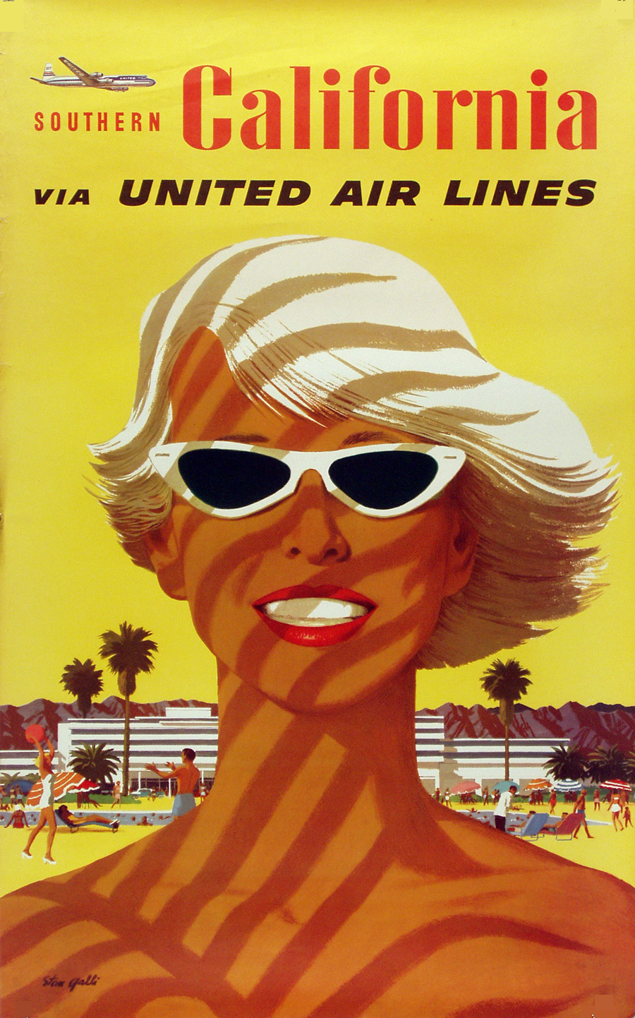 United Airlines Poster California. Author: Stan Galli