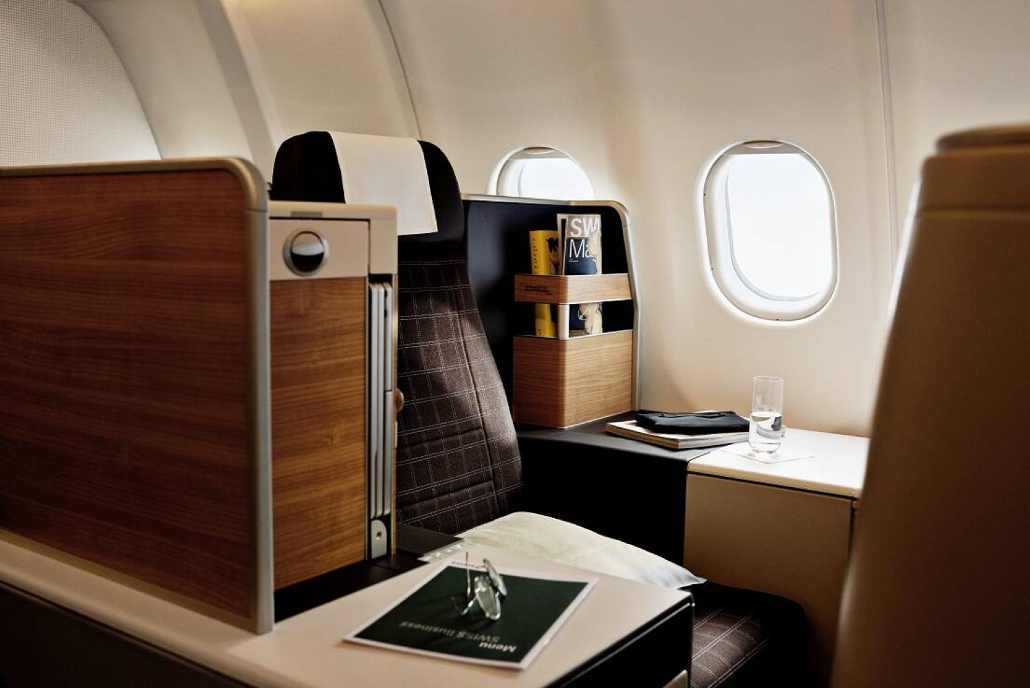 Refurbished Swiss International Air Lines Cabin