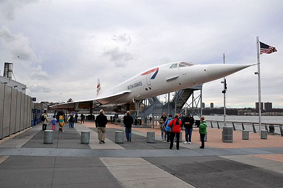 Supersonic Concorde at a Museum