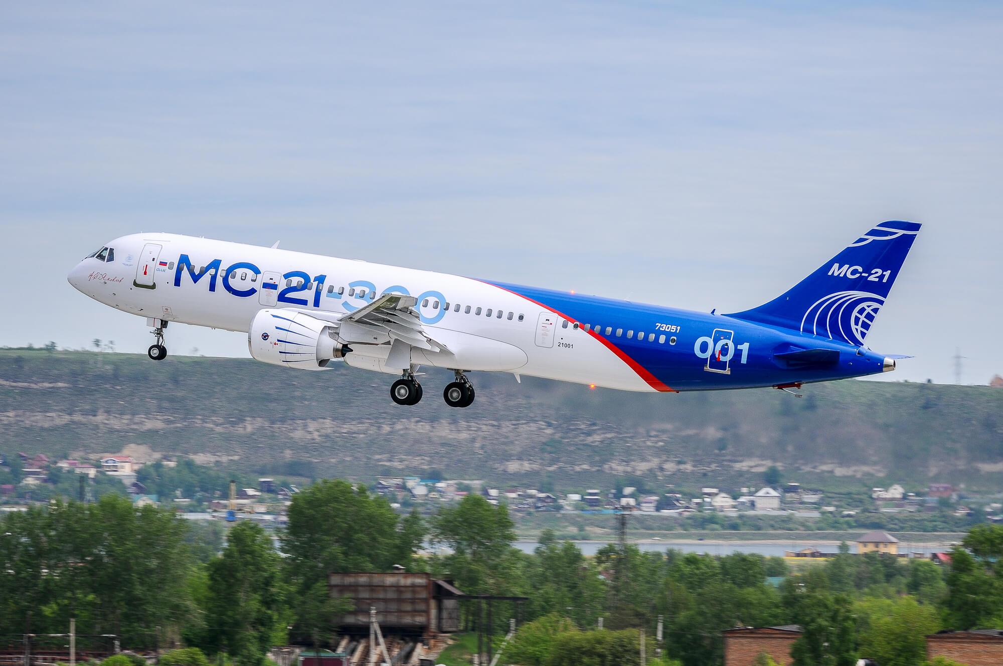 Russian mc 21 300 completes maiden flight for Airplane exterior design