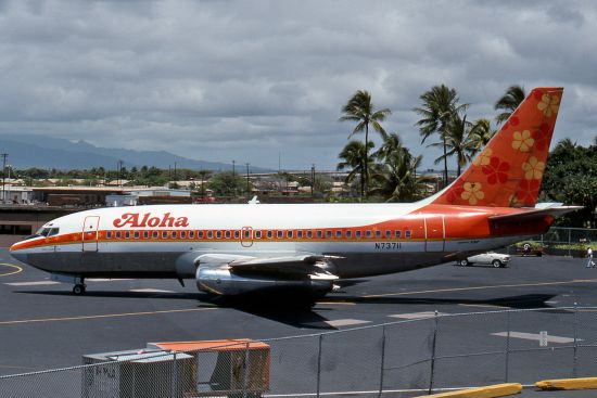 aloha airlines 243 Narrative: on april 28, 1988, an aloha airline boeing 737, n73711, was scheduled for a series of interisland flights in hawaii the crew flew three uneventful roundtrip flights, one each from honolulu to hilo (ito), kahului airport, hi (ogg) on the island of maui, and kauai island airport (lih.