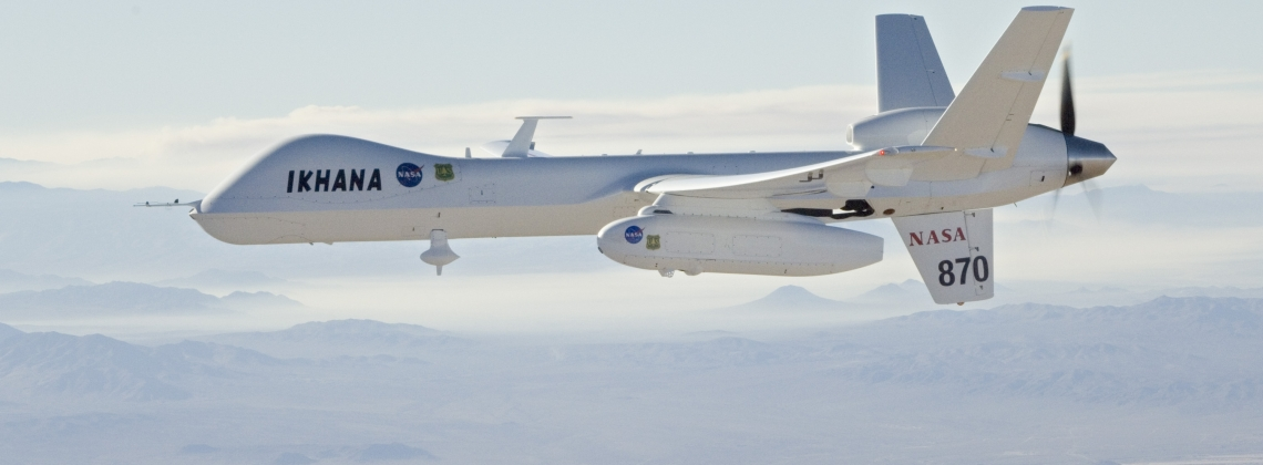 """First """"free"""" flight in national airspace for NASA Ikhana drone"""