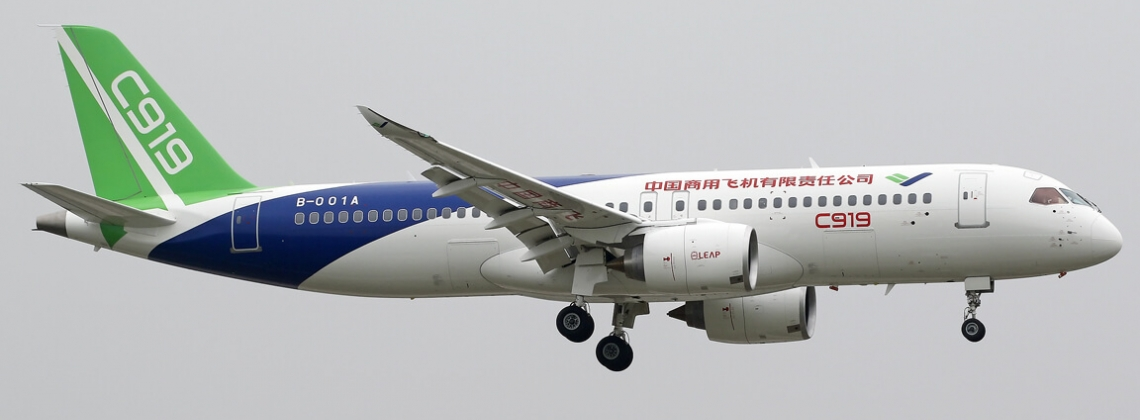 China's COMAC first delivery of C919 pushed for 2021