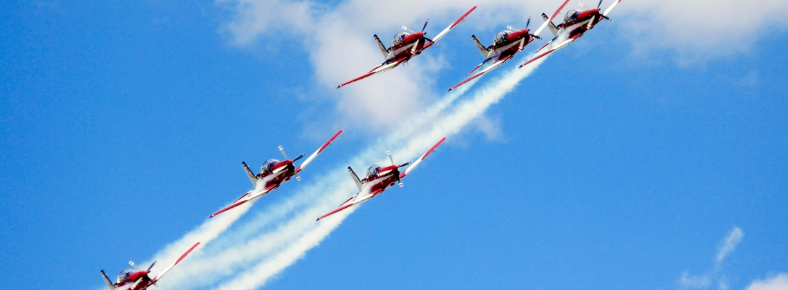 The Australian Roulettes take their iconic PC-9 for a last spin