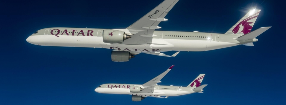 Airbus delivers newest A350 XWB jetliner to launch customer Qatar