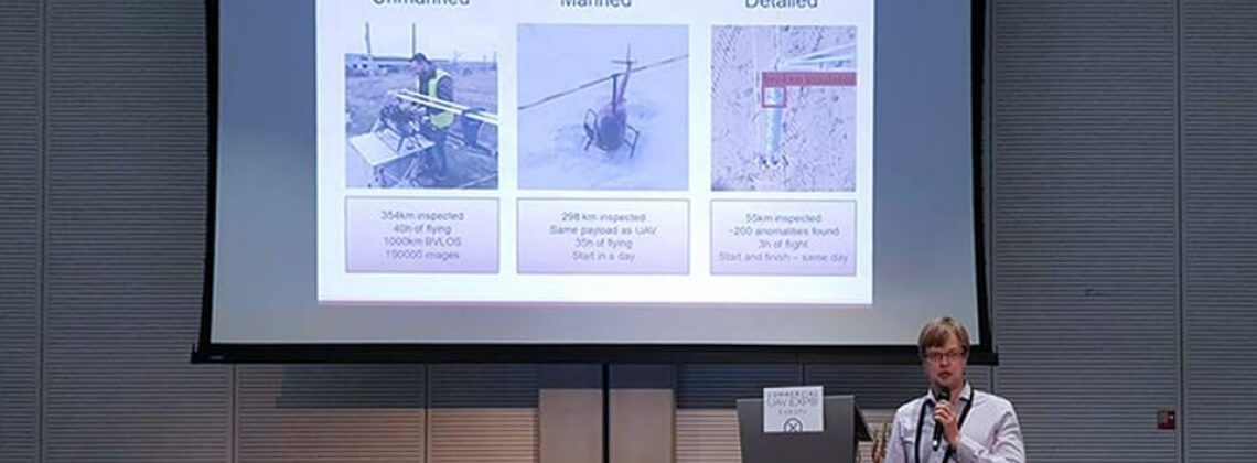 Manned Helicopters vs. UAV for power line inspection
