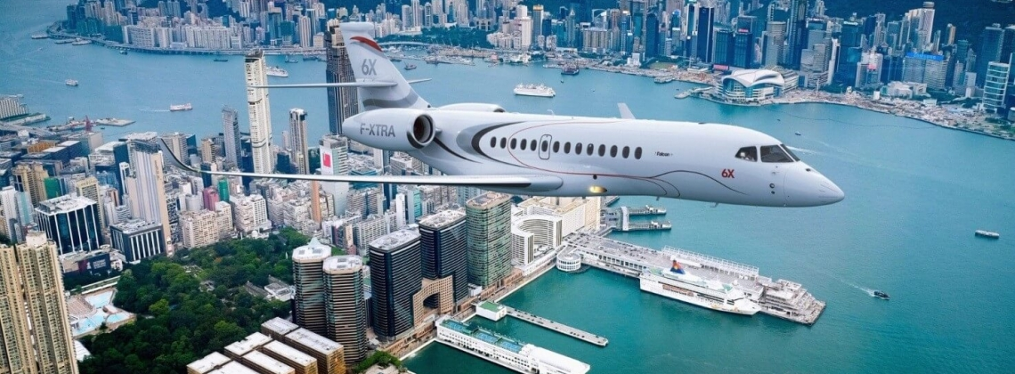 Dassault Aviation unveils its new Falcon 6X