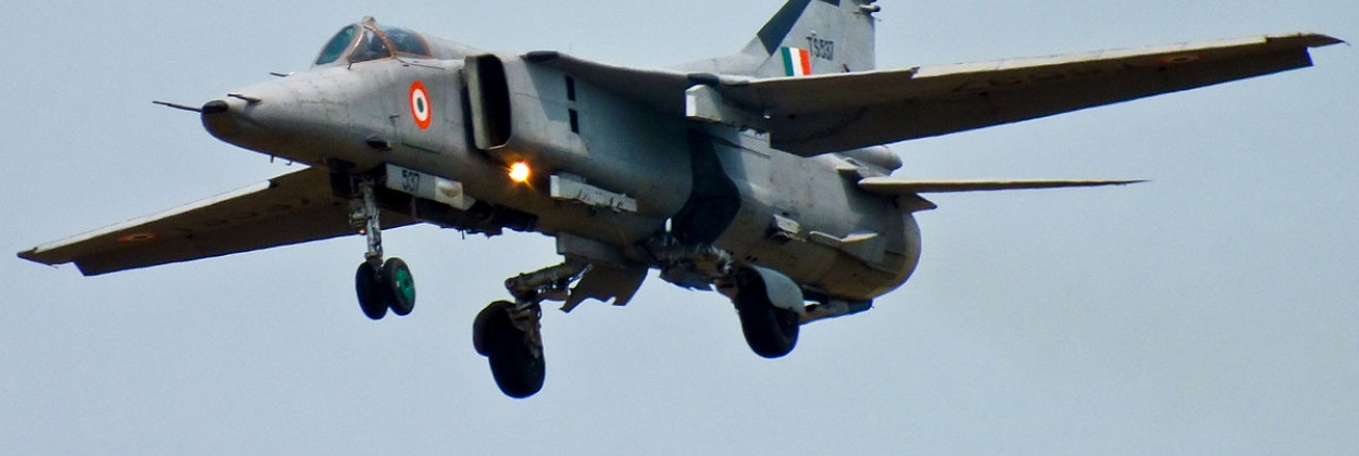Indian MiG-27 crashes shortly after takeoff, pilot ejects safely