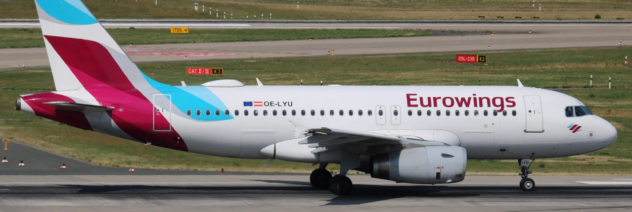 Eurowings A319 diverts to Toulouse after crack in cockpit window