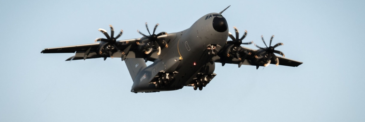 Airbus A400M destined to Luxembourg takes off for maiden flight