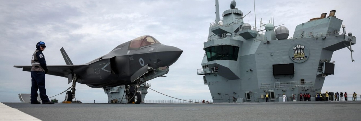 RAF F-35Bs lands on HMS Prince of Wales for the first time