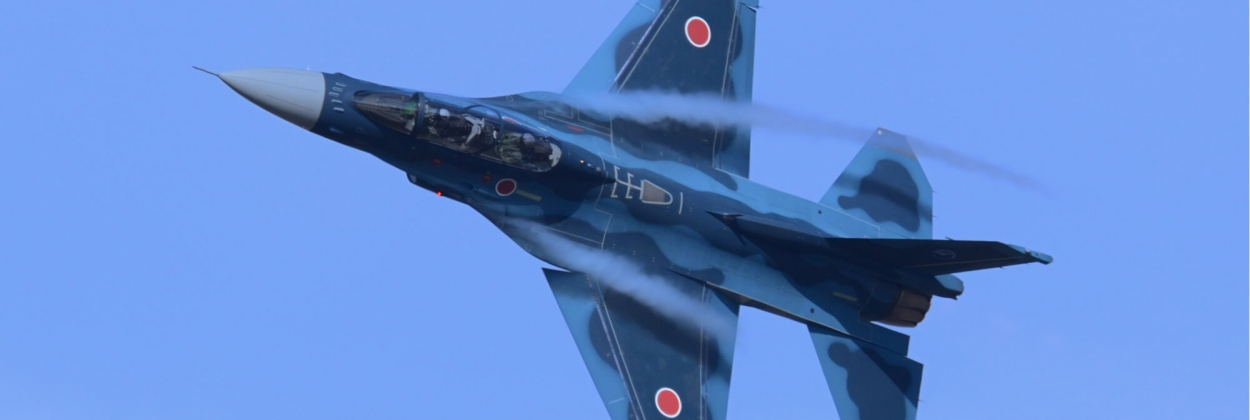 A Mitsubishi F-2 fighter jet of the Japan Air Self Defense Force