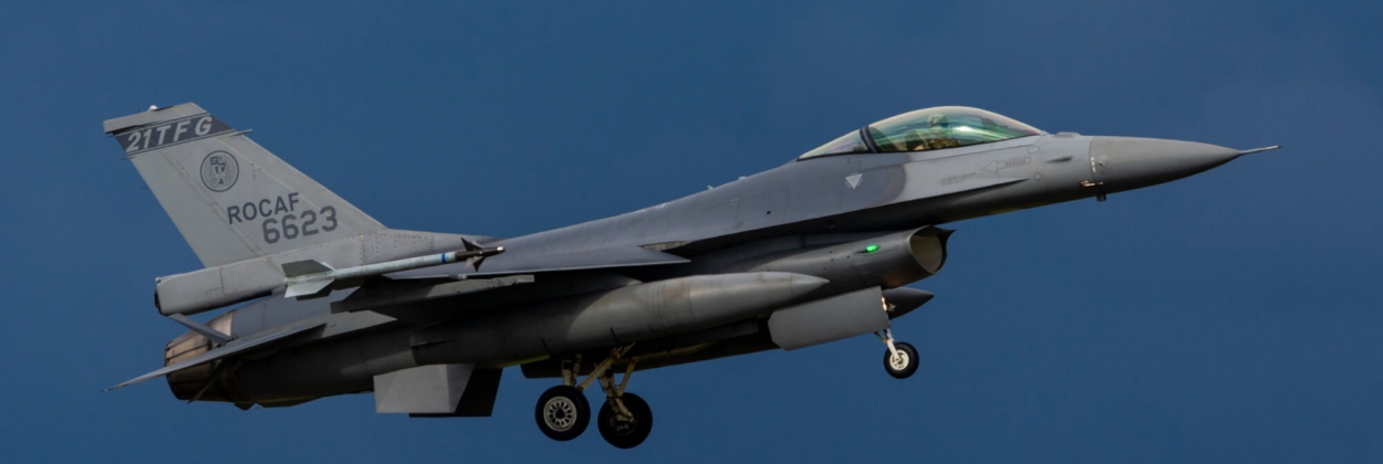 Taiwanese F-16 fighter falls into ditch after runway overrun