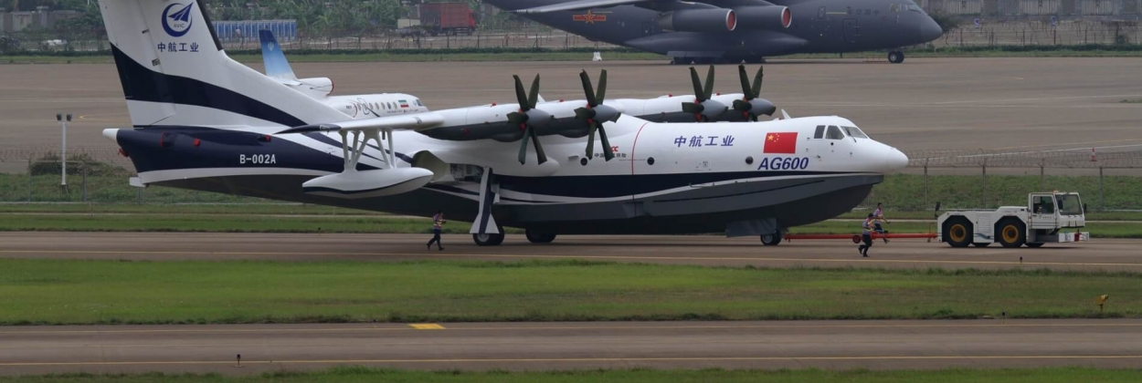 First flight from sea for Chinese AG600, world's largest seaplane