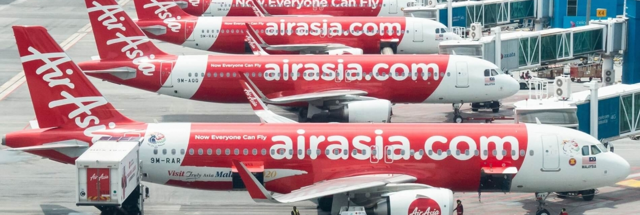 Air Asia aircrafts docking at KLIA2, Kuala Lumpur International A