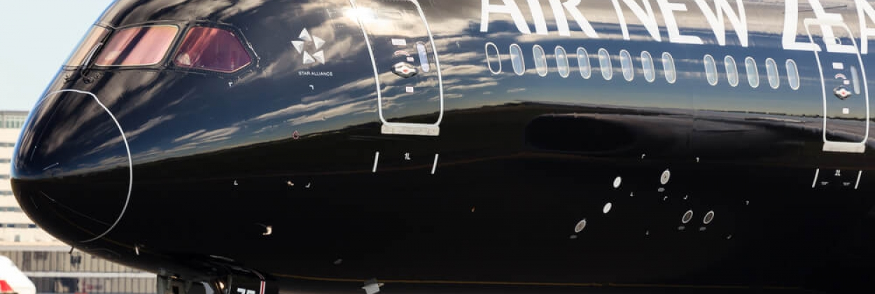 Air New Zealand Boeing 787 Dreamliner in All Blacks livery