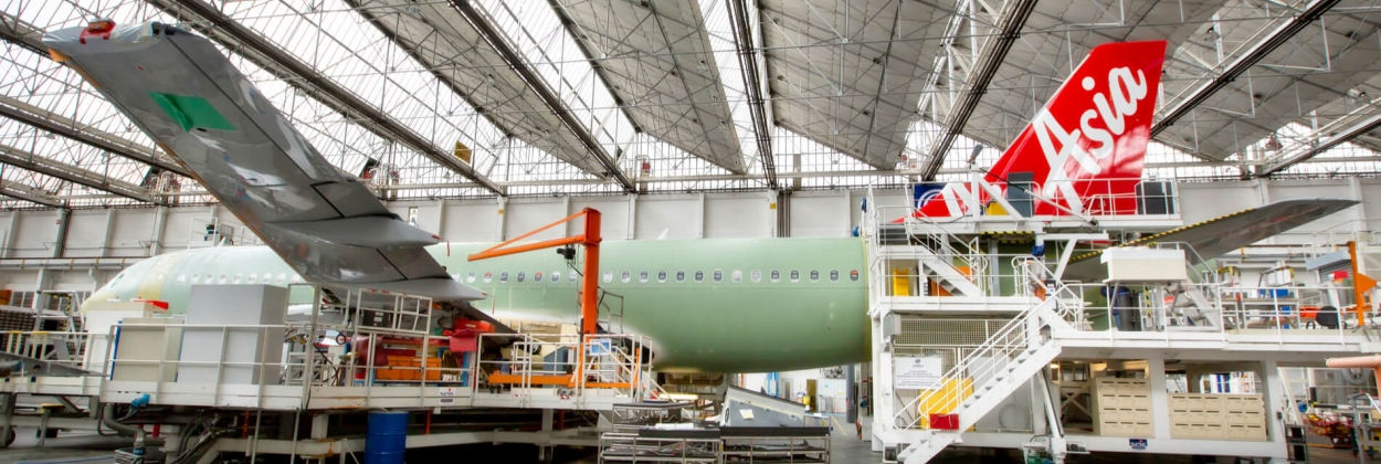 AirAsia Airbus A320 assembled in Toulouse, France
