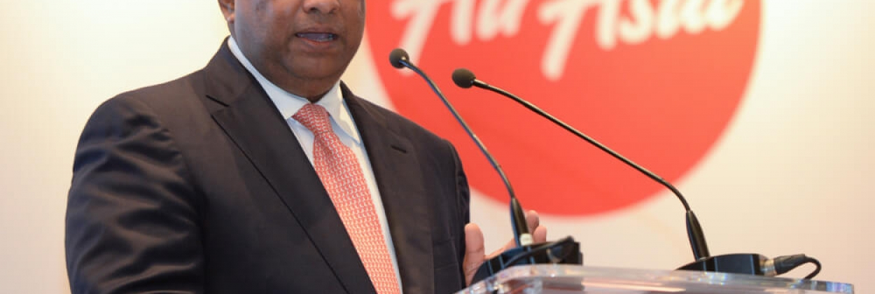 AirAsia Group CEO Tony Fernandes speaking during a conference