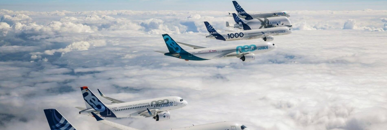 Airbus airliners in formation AeroTime News