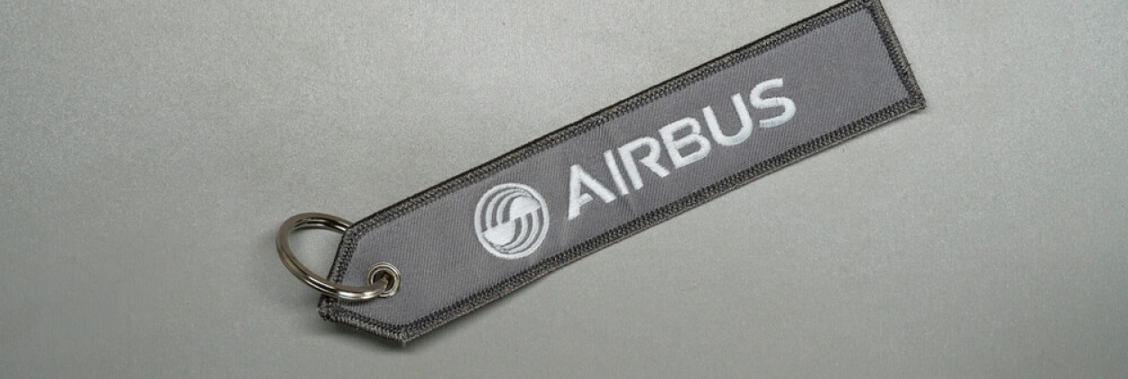 Airbus logo on a keychain
