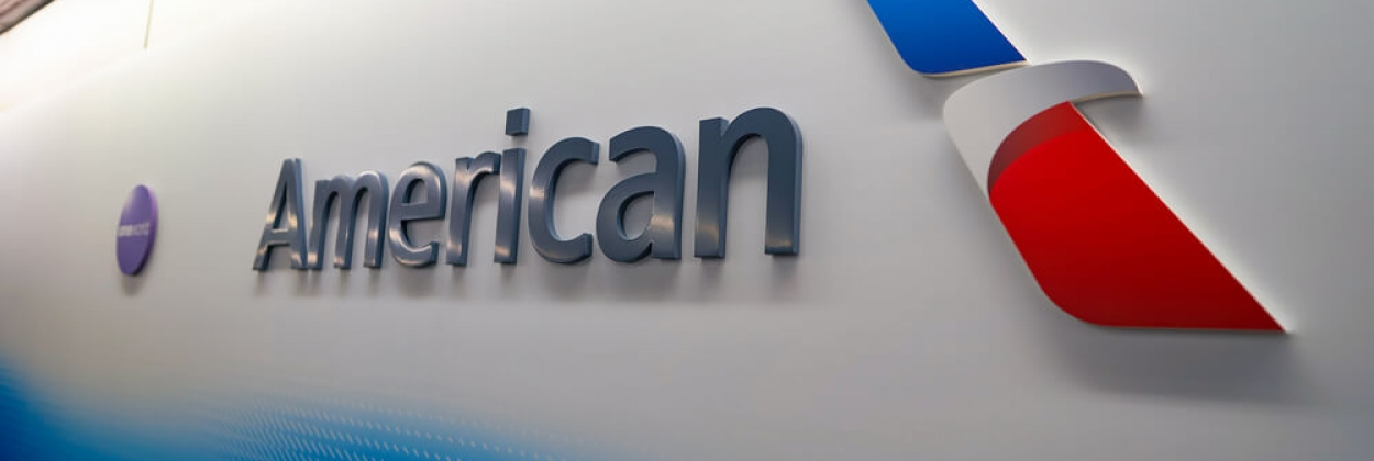 American Airlines logo at Chicago OHare International Airport ORD