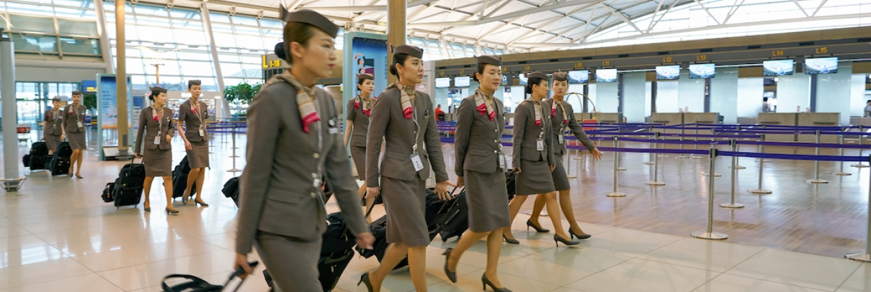 Asiana Airlines crew