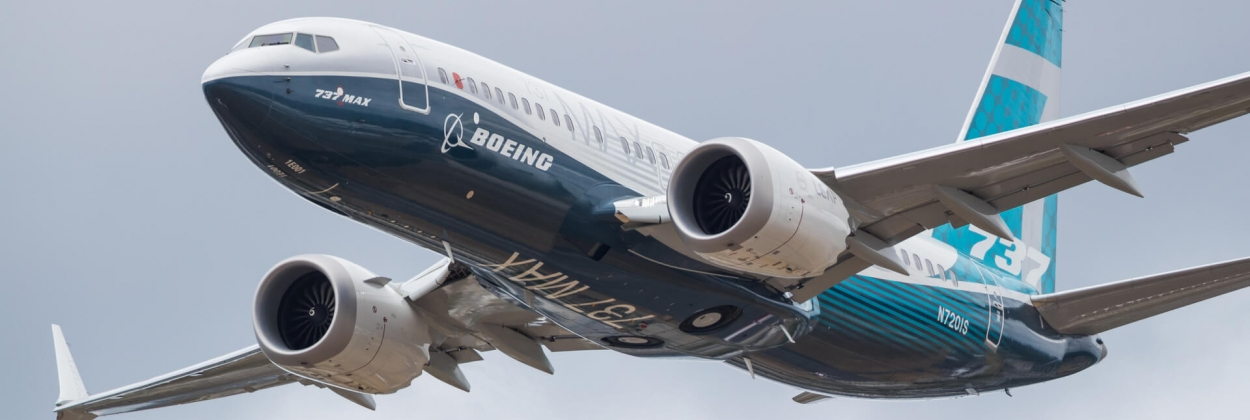 Boeing 737 MAX during Farnborough Air Show 2018