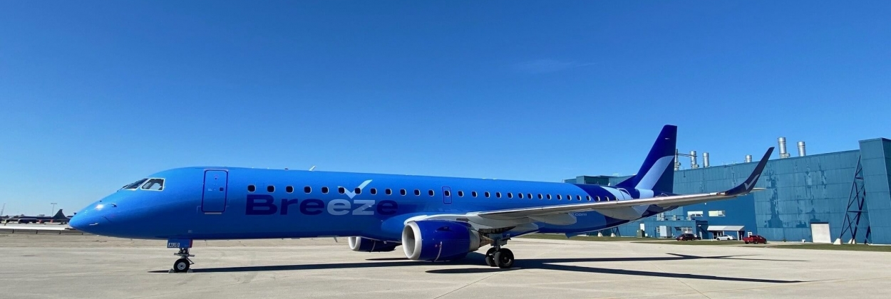 Breeze will operate a fleet of 13 Embraer e-jets ahead of Airbus