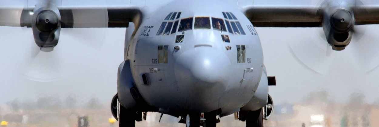 C-130 Hercules substantially damaged in runway excursion