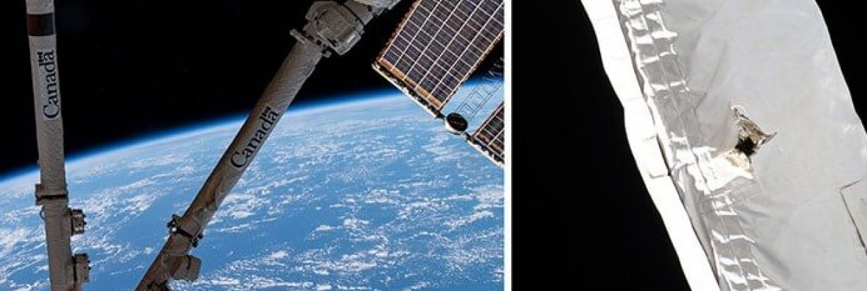International Space Station hit by space debris, arm damaged
