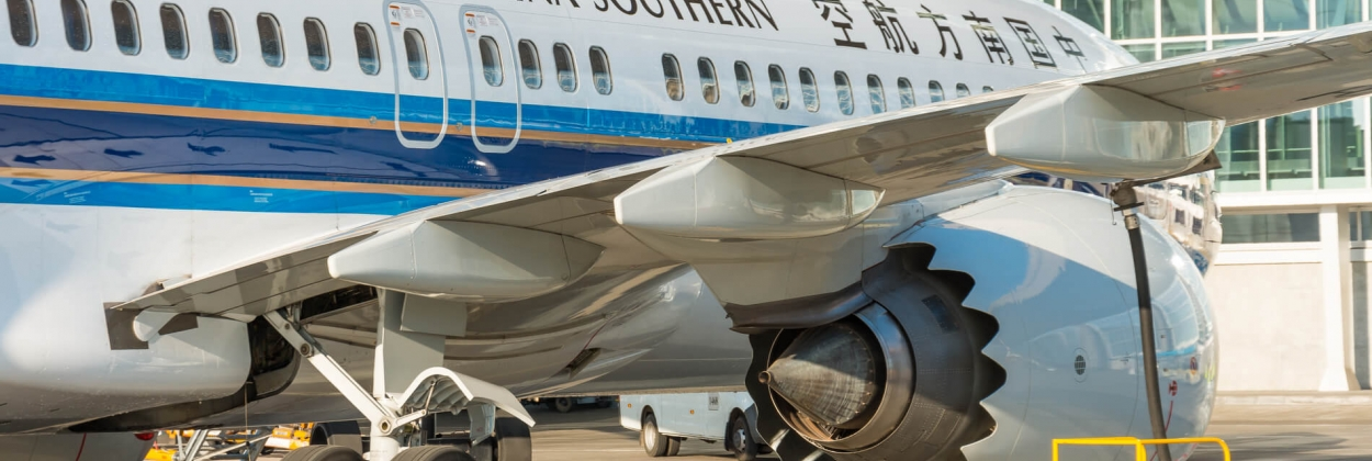 China Southern Airlines Boeing 737 MAX parked at St Petersburg Pu