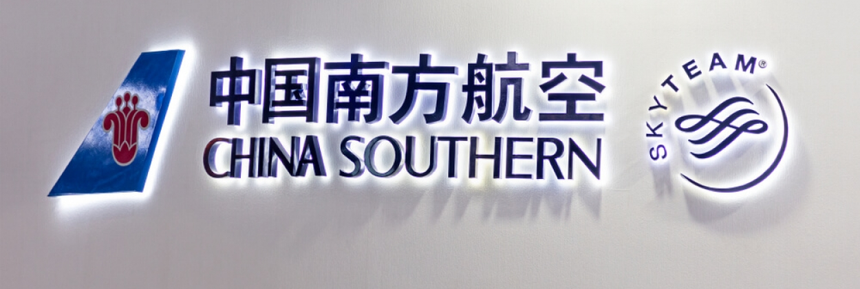 China Southern Airlines logo with SkyTeam logo next to it