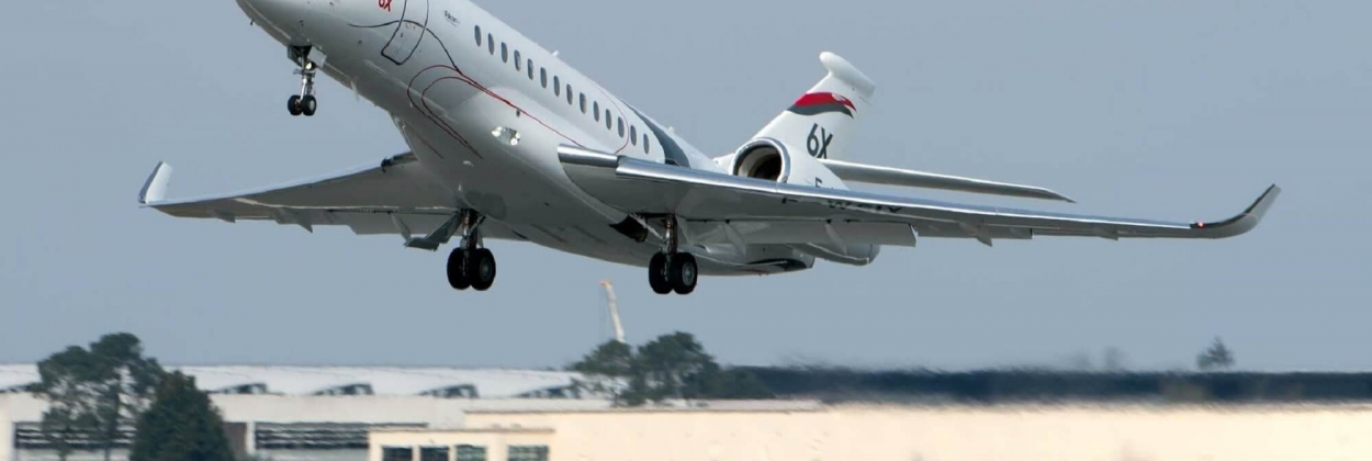 Dassault Falcon 6X takes to the skies for the first time