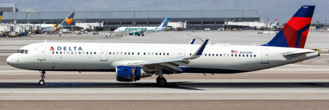 Delta Air Lines Airbus A321 jet