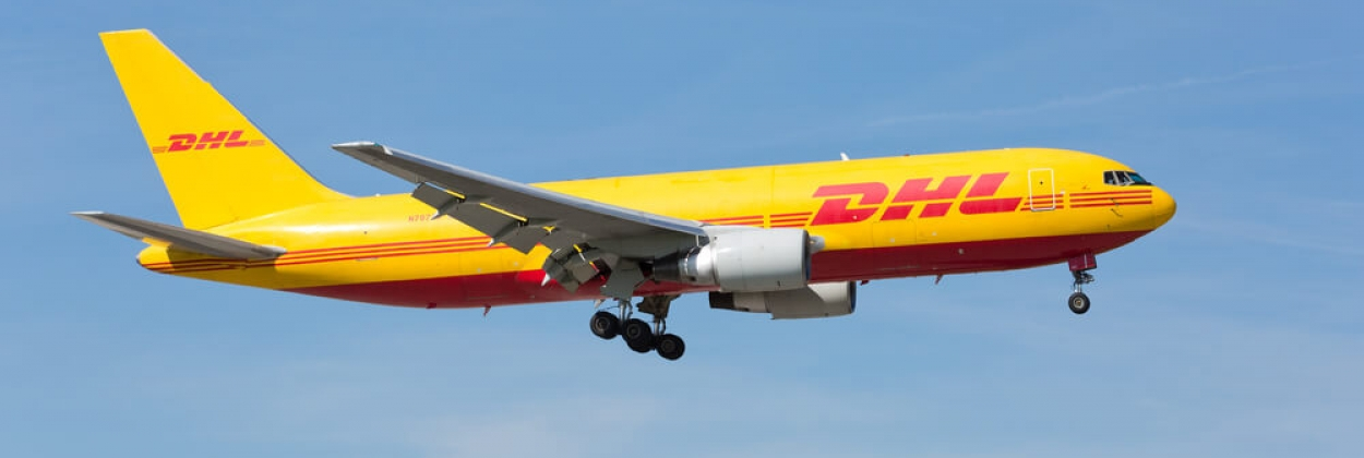 DHL Boeing 767 approaching Miami International Airport MIA