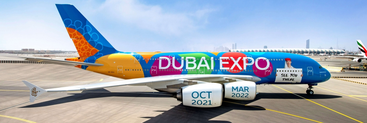 Emirates unveils first A380 full-aircraft livery to mark Dubai Expo 2020