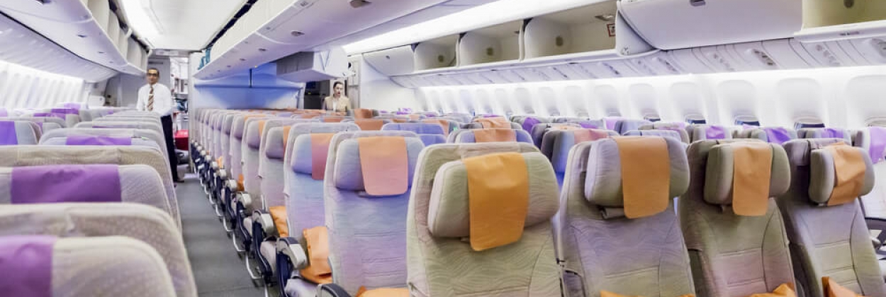 Emirates Airlines Boeing 777 Economy class seats