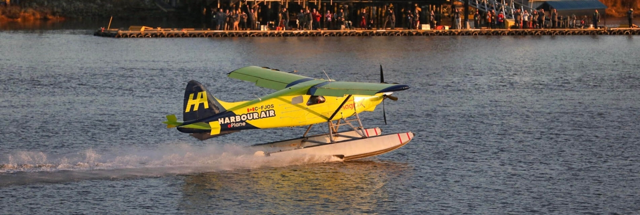 Harbour Air flies the world's first electric seaplane