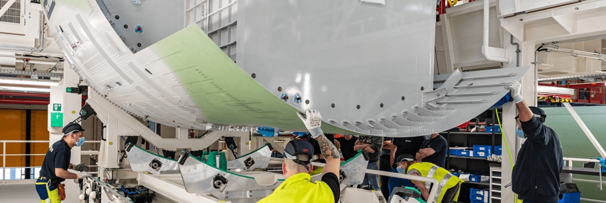 Airbus begins structural assembly of it first Airbus A321XLR