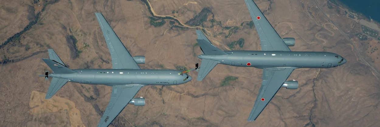Japanese Boeing KC-46A Pegasus completes first refueling flight