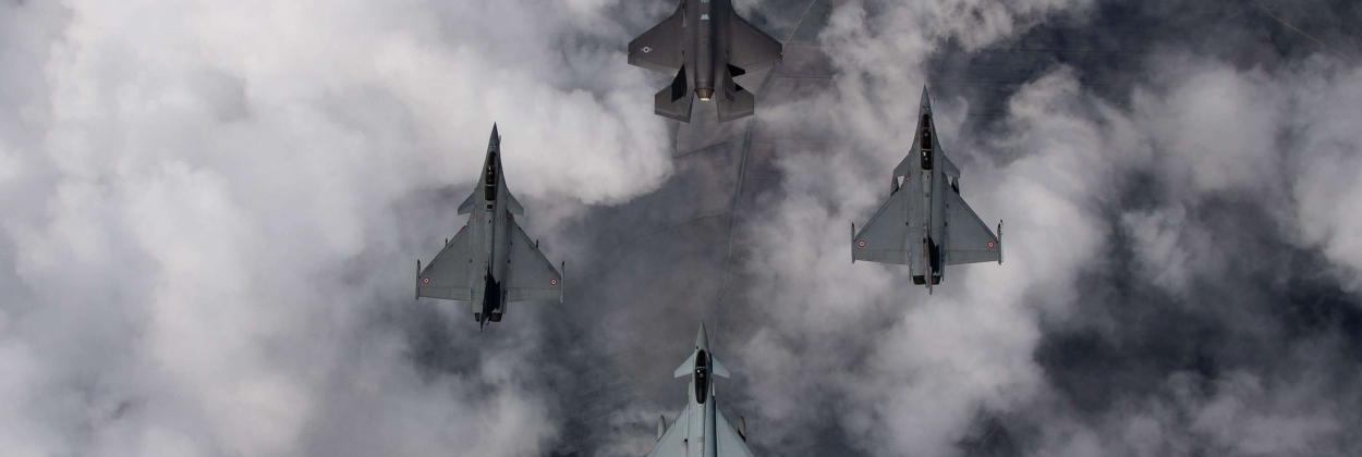 Atlantic Trident: Rafales, F-35s, and Typhoons fly together