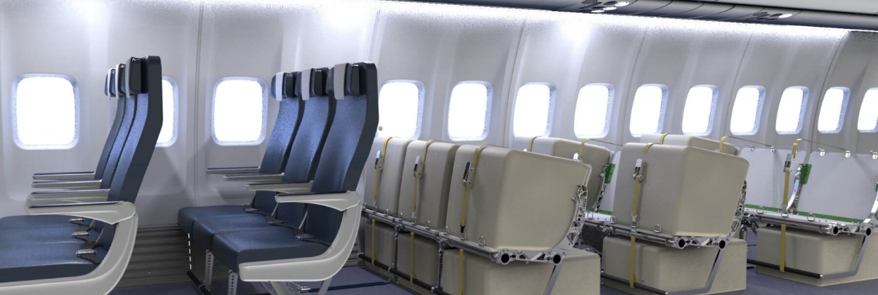 The mixed all-in-one cabin solutions of passenger aircraft interi