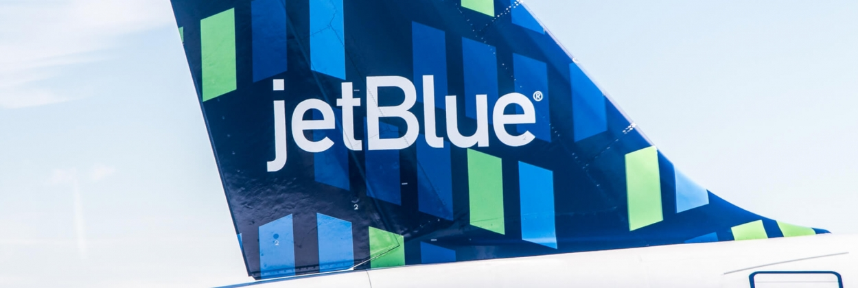 JetBlue aircraft tail at New York John F Kennedy International Ai