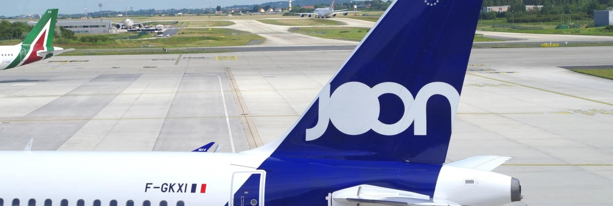 Joon Airbus A320 parked at Charles De Gaulle International Airpor