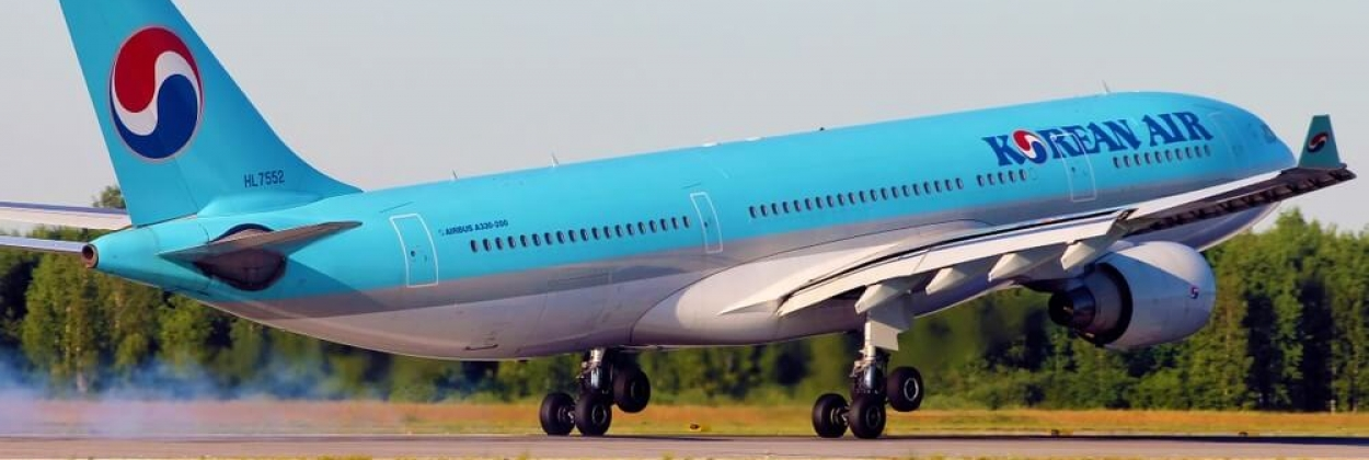Korean Air Airbus 330 in Pulkovo International Airport