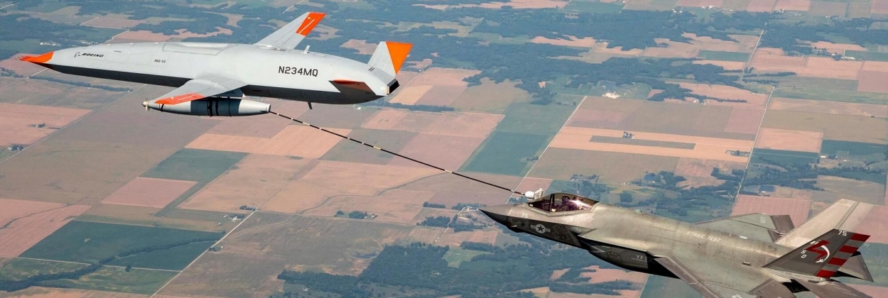 Boeing MQ-25 Stingray drone refuels F-35 fighter jet for the first time