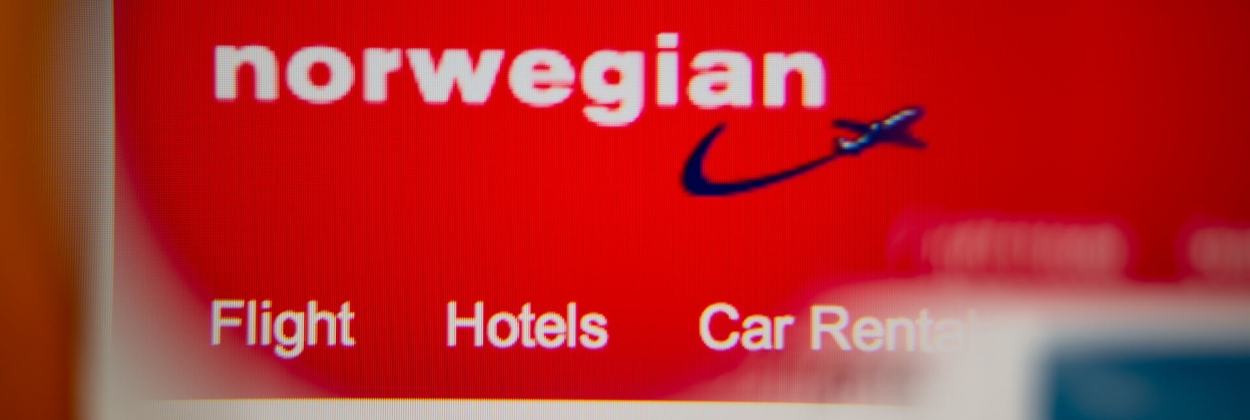 Norwegian Air Shuttle logo on its website
