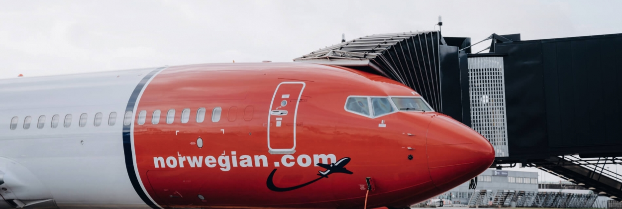 Norwegian Boeing 737 at Copenhagen Airport CPH