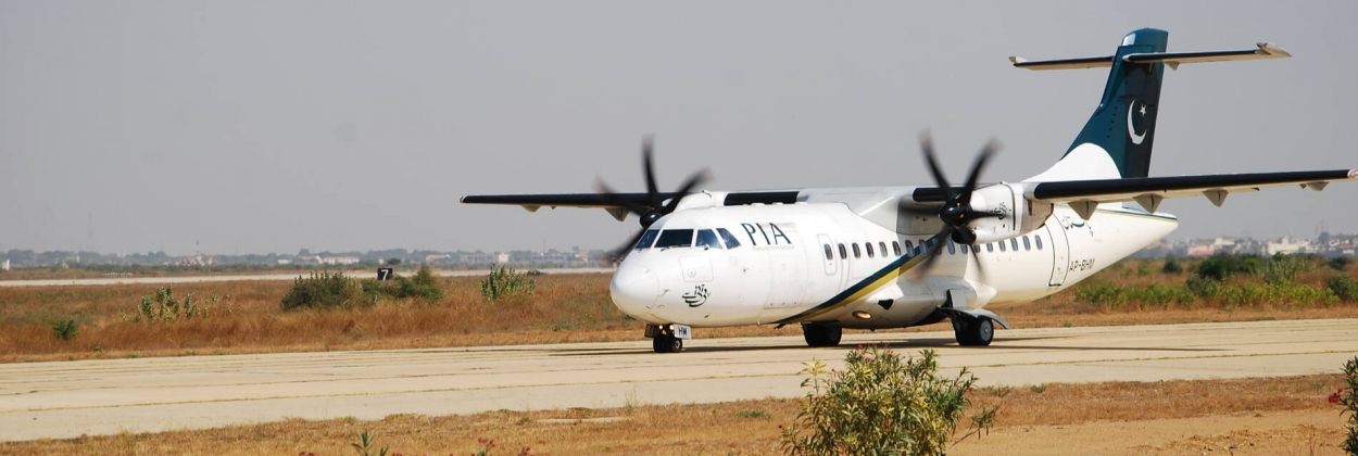 Pakistan International Airlines ATR taxiing before take-off