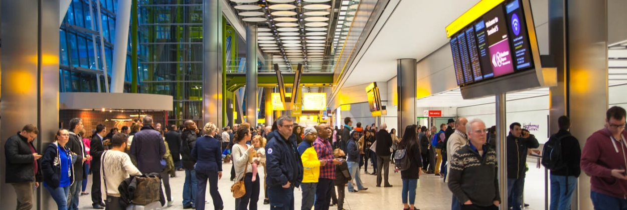 People waiting for arrivals in Heathrow airport aerotime news